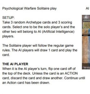 Psychological Warfare Solitaire