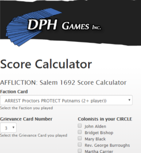 Affliction Score Calculator